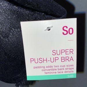 Kohl's Other - All black super push up bra